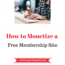 how to monetize a free membership site